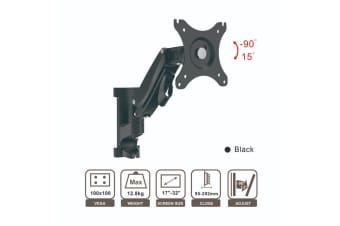 "Loctek 17""-32"" PSW665SUT Ergonomic Full Motion Gas Spring Arm TV Monitor Wall Mount Weight 12.8kg"