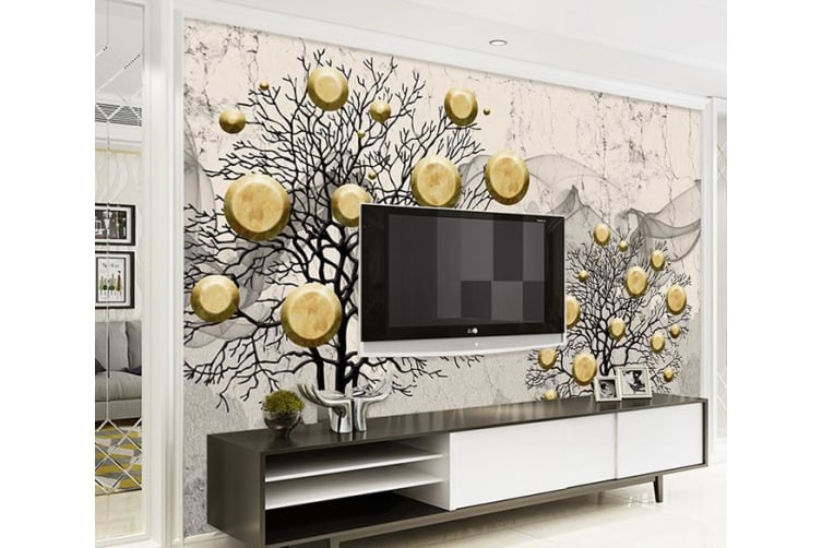 3D Golden Fruit 594 Wall Murals Self-adhesive Vinyl, XL 208cm x 146cm (WxH)(82''x58'')