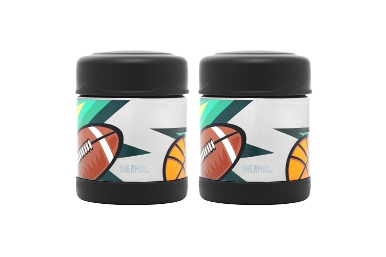 2PK Thermos Funtainer 290ml Food Jar Stainless Steel Double Wall Multi Sports