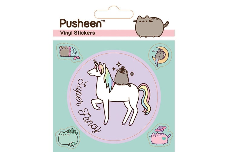 Pusheen Unicorn Vinyl Stickers (Pack of 5) (Multicoloured) (One Size)