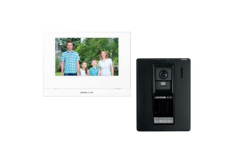"""Aiphone 7"""" LCD Wireless Home/Office/Door Intercom Security Kit w/Video Recording"""