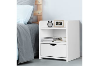 Bedside Tables Drawers Side Table Bedroom Nightstand White Unit