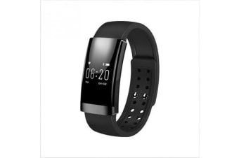 Bluetooth V4.0 Smart Fitness Tracker Watch Rechargeable Heart Rate Monitor Black
