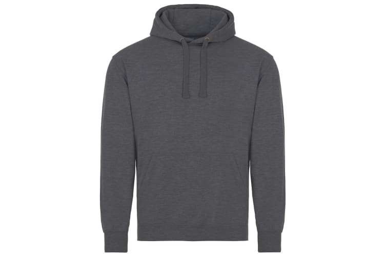 AWDis Just Hoods Adults Unisex Supersoft Hooded Sweatshirt/Hoodie (Charcoal) (L)