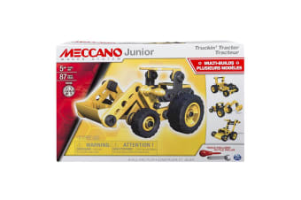 Meccano Junior Tractor 4-in-1 Model Set