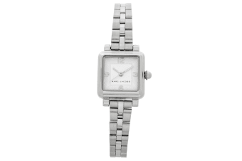 Marc Jacobs Women Quartz Vic Stainless Steel Wrist Watch Silver/White Water Res.