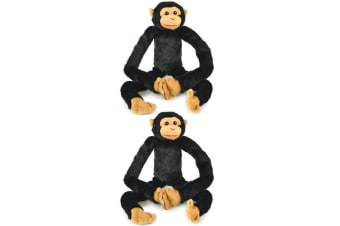 2x Korimco 68cm Kids/Children Hanging Chimp Large Monkey Plush Soft Stuffed Toy