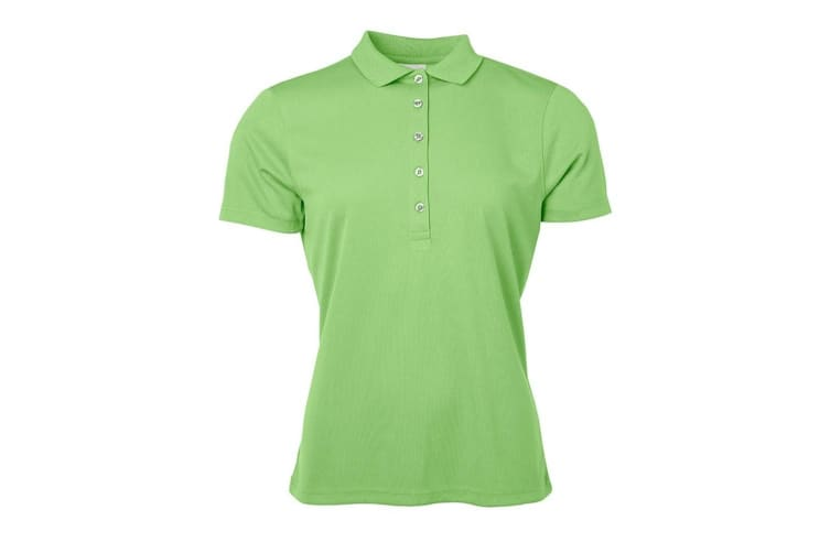 James and Nicholson Womens/Ladies Active Polo (Lime Green) (XS)