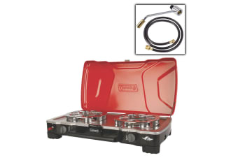Coleman Hyperflame Fyrecadet Stove Cooker Food Portable 2 Twin Double Burner New