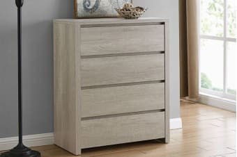 Shangri-La Chest of 4 Drawers - Alta Collection (Dusky Oak)
