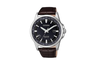 Citizen Men's Analog Eco-Drive Watch with Automated Perpetual Calendar & Soft Oxhide Leather Band - Brown/Stainless Steel (BX1001-11L)