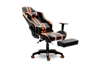 Gaming Office Chair Racing Computer Seat w/Headrest and Backrest - Orange