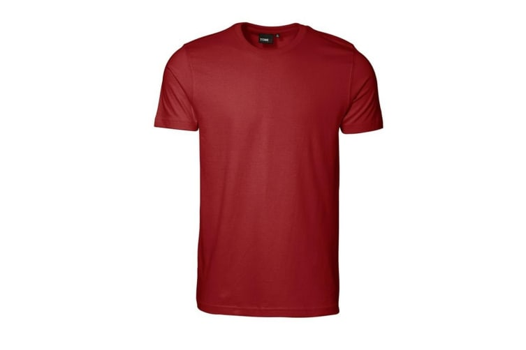 ID Mens T-Time Slimline Fitted Short Sleeve T-Shirt (Red) (2XL)