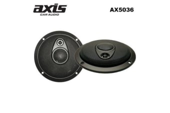 AXIS Car Audio 5inch 125mm 3-Way Slimline Speakers 150Watt Black