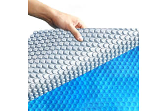 Solar Swimming Pool Cover 400 Micron Outdoor Bubble Blanket Protector 8 X 4.2M