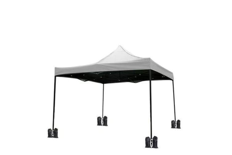 3x3m Outdoor Pop Up Canopy Tent WHITE