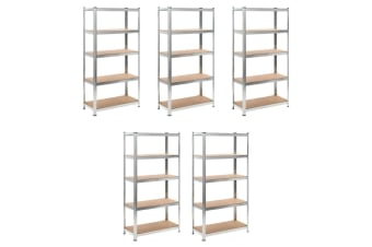 vidaXL Heavy-duty Storage Rack 5 pcs