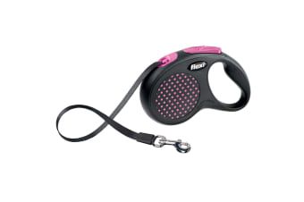 Bogdahn International Flexi Design Tape Dog Lead (Pink Dot)