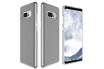 For Samsung Galaxy Note 8 Back Case Chrome Plated Buttons Protective Cover Grey