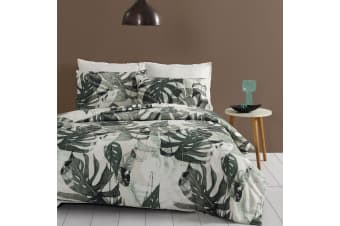 Egyptian Cotton Quilt Cover Set Flannelette 175GSM Single/Double/Queen/King/MK - Queen - Monsteria