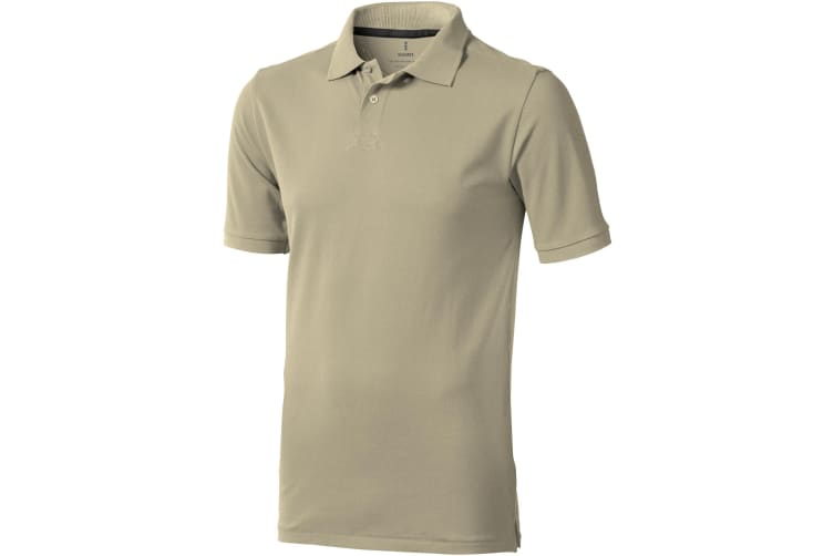 Elevate Mens Calgary Short Sleeve Polo (Khaki) (XL)