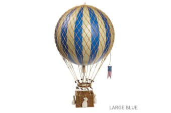 Ornamental Vintage Hot Air Balloons - Large Blue