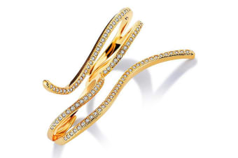 Serpent Shape Fashion Ring-Gold/Clear Adjustable Size