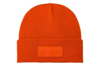 Bullet Boreas Beanie With Patch (Orange) (One Size)