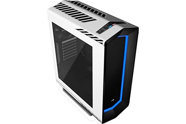 Aerocool Project7 C1 Case 7 Colour LED Front Panel & Tempered Glass Window - USB 3.0 - White