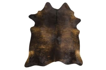 Exquisite Natural Cow Hide Dark Brindle 170x180cm