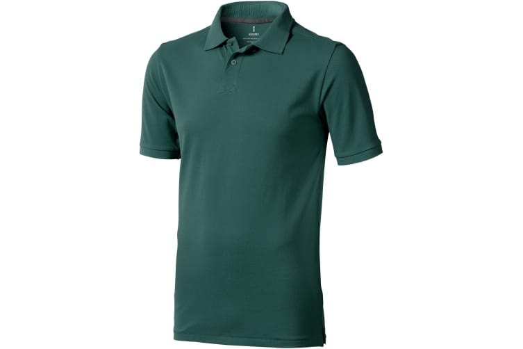 Elevate Mens Calgary Short Sleeve Polo (Pack of 2) (Forest Green) (XXL)