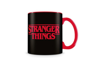 Stranger Things Logo Mug (Red/Black) (One Size)