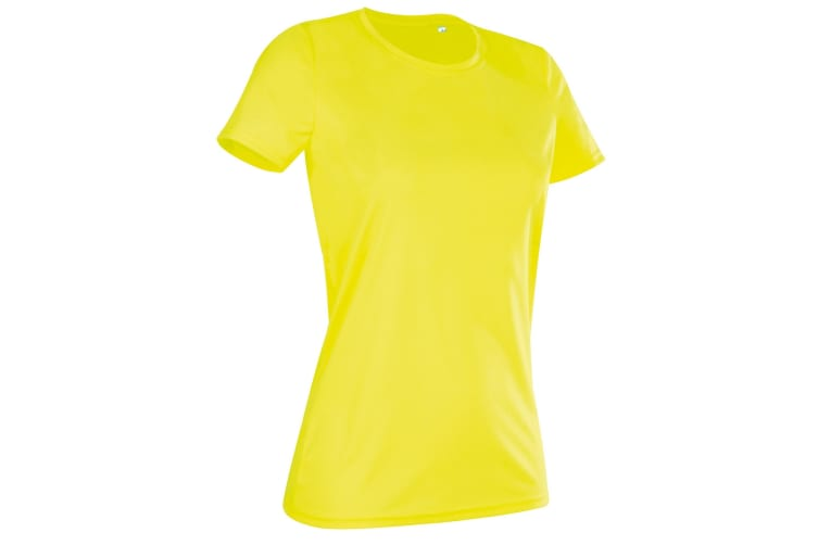 Stedman Womens/Ladies Active Sports Tee (Cyber Yellow) (M)