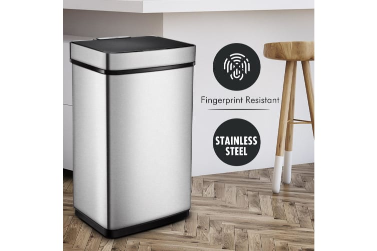 Auto open Electric Stainless Steel Bin Rubbish Can - 60L