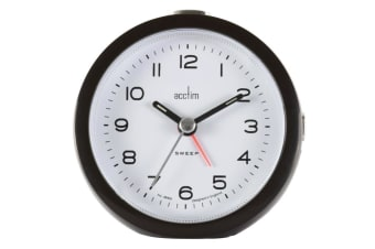 Acctim Neve Non Ticking Sweep Clock (Black) (One Size)