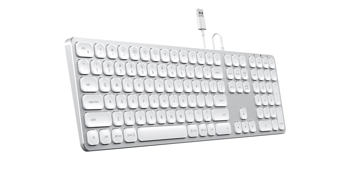 dick smith nz satechi wired keyboard for mac silver usb hubs memory card readers. Black Bedroom Furniture Sets. Home Design Ideas
