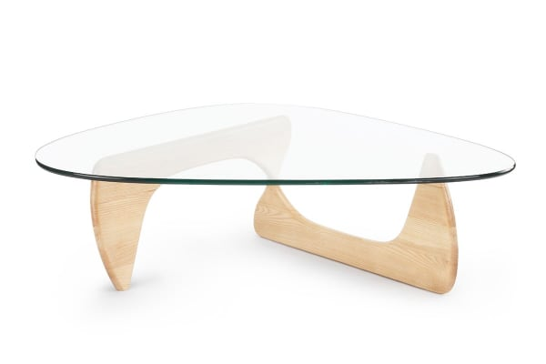 glass coffee table. Ovela Noguchi Replica Glass Coffee Table (Natural)
