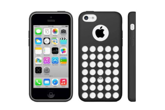 For iPhone 5C Back Case  Grippy Hollow Dot Durable Shielding Cover Black