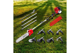 4-STROKE Pole Chainsaw Hedge Trimmer Brush Cutter Whipper Multi Tool