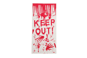 Bristol Novelty Halloween Keep Out Door Cover (White/Red)