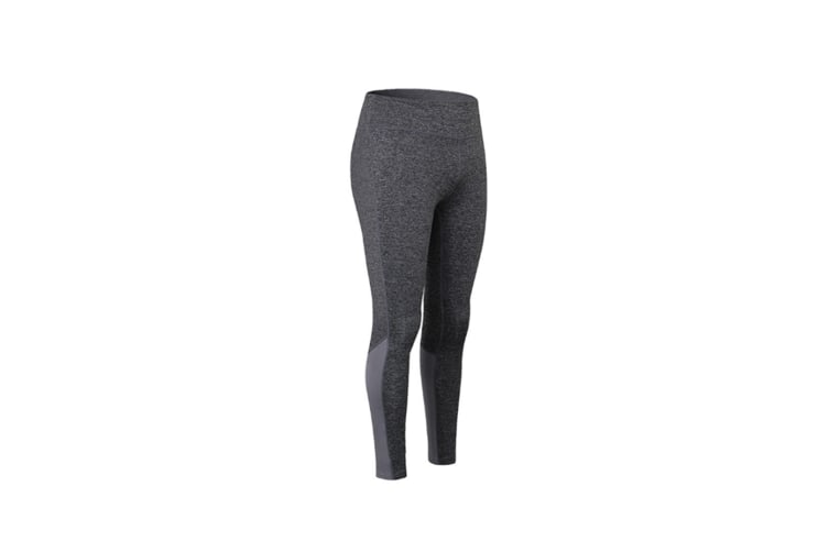 Womens Yoga Pants Elastic Reflective Strip Night Running Fast-Drying Leggings - Grey Grey Xl