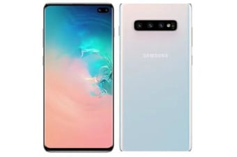 New Samsung Galaxy S10+ Dual SIM 128GB 4G LTE Smartphone Prism White (FREE DELIVERY + 1 YEAR AU WARRANTY)