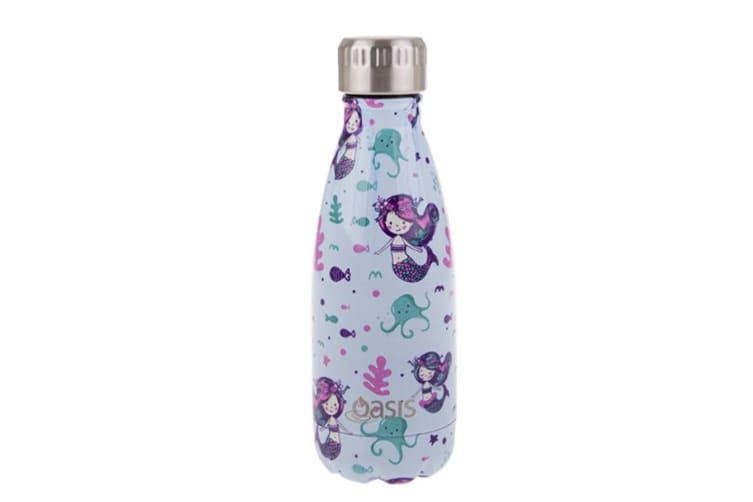 2x Oasis 350ml Double Wall Insulated Drink Water Bottle Vacuum Flask Mermaids