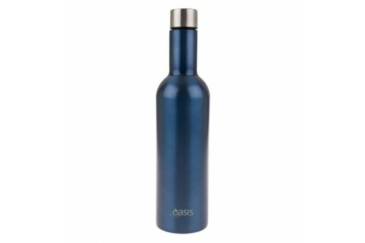 Oasis Wine Traveler Bottle With Tumbler Double Wall Insulated SAPPHIRE Kit Set