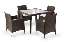Ovela 5 Piece Wicker Dining Table and Chairs