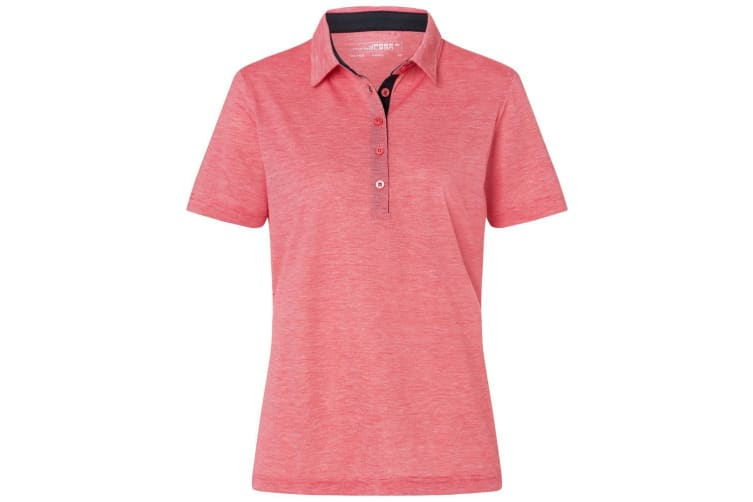 James and Nicholson Womens/Ladies Bicolour Polo (Red/White) (L)
