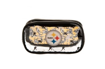 Pittsburgh Steelers Pencil Case (Clear/Black) (One Size)
