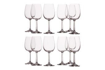 12pc Casa Domani 250ml Evolve White Wine Glass Glasses Bar Tableware Drinks Set