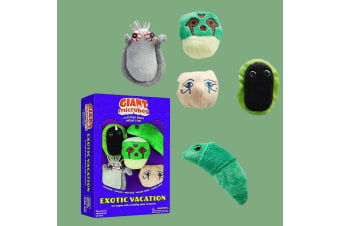 Exotic Vacation Plush Giant Microbes Gift Box | 5 Exotic Microbes!