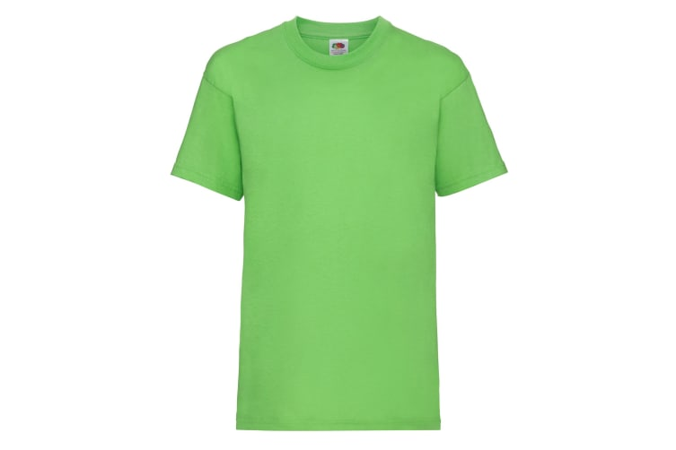 Fruit Of The Loom Childrens/Kids Unisex Valueweight Short Sleeve T-Shirt (Pack of 2) (Lime) (5-6)